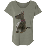 Great Dane Proud Ladies' Triblend Dolman Sleeve