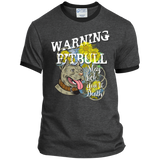 Pit Bull Lick to Death Ringer Tee