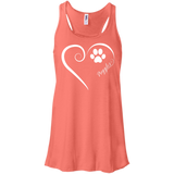 Puggle, Always in my Heart Flowy Racerback Tank