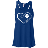 Labrador Retriever, Always in my Heart Flowy Racerback Tank