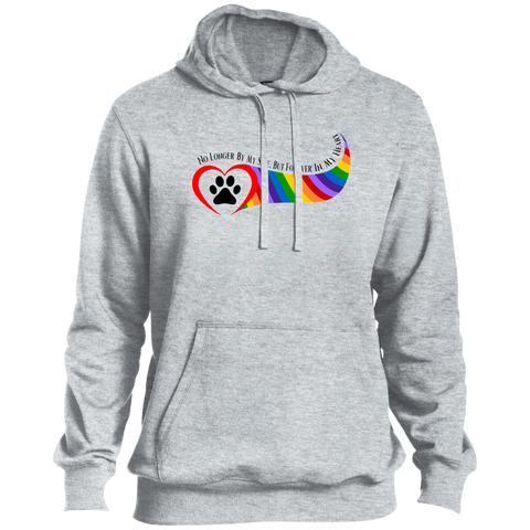 Paw in Heart Rainbow Right No Longer By My Side Tall Unisex TST254 Sport-Tek Tall Pullover Hoodie