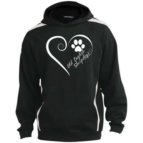 Old English Sheepdog, Always in my Heart  Colorblock Sweatshirt