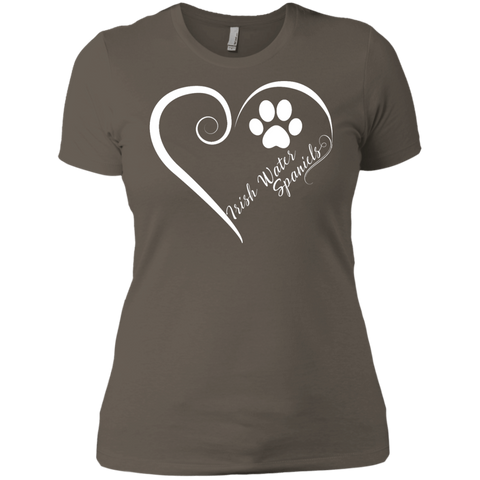 Irish Water Spaniel, Always in my Heart  Ladies' Boyfriend Tee