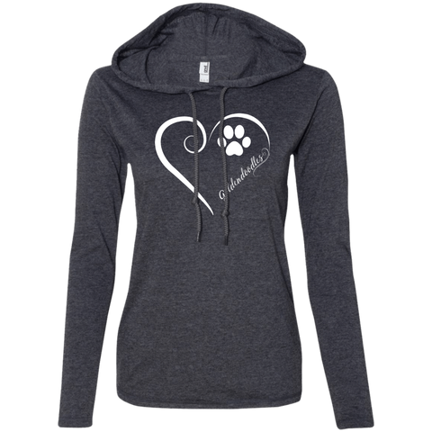 Goldendoodle, Always in my Heart Ladies LS T-Shirt Hoodie
