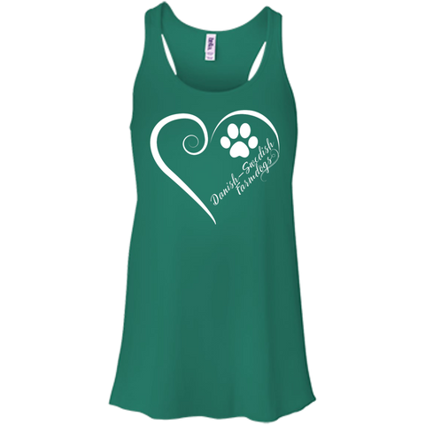 Danish-Swedish Farmdog, Always in my Heart Flowy Racerback Tank