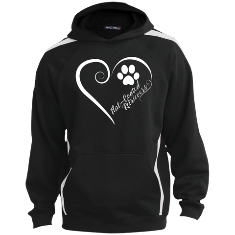 Flat-Coated Retriever, Always in my Heart Colorblock Sweatshirt