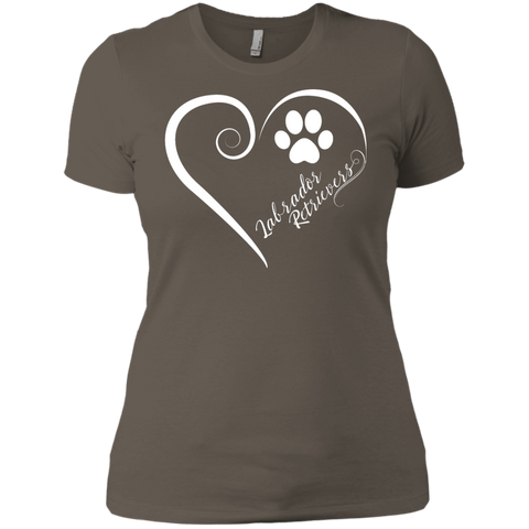 Labrador Retriever, Always in my Heart Ladies' Boyfriend Tee
