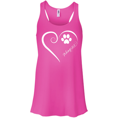 Pekingese, Always in my Heart Flowy Racerback Tank