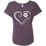 Greater Swiss Mountain Dog, Always in my Heart Ladies Triblend Dolman Sleeve