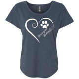 Norwegian Buhund, Always in my Heart Ladies Triblend Dolman Sleeve