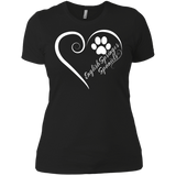 English Springer Spaniel, Always in my Heart Next Level Ladies' Boyfriend Tee