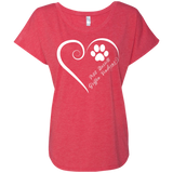 Petit Basset Griffon Vendeen, Always in my Heart Ladies Triblend Dolman Sleeve