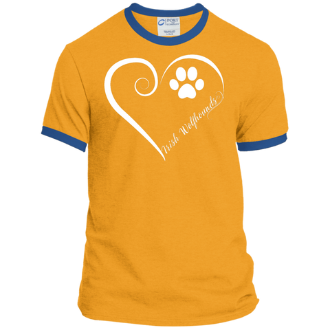 Irish Wolfhound, Always in my Heart  Ringer Tee