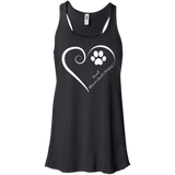 Small Munsterlander Pointer, Always in my Heart Flowy Racerback Tank