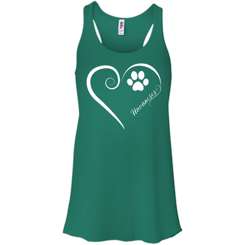 Havanese, Always in my Heart Flowy Racerback Tank