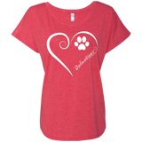 Dalmatian, Always in my Heart Ladies Triblend Dolman Sleeve