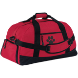 Paw Print Basic Large-Sized Duffel Bag