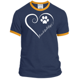 French Bulldog, Always in my Heart Ringer Tee