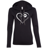 Ibizan Hound, Always in my Heart Ladies T-Shirt Hoodie