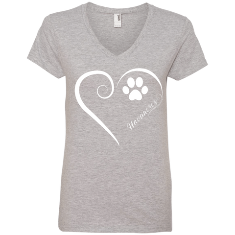 Havanese, Always in my Heart Ladies V Neck Tee