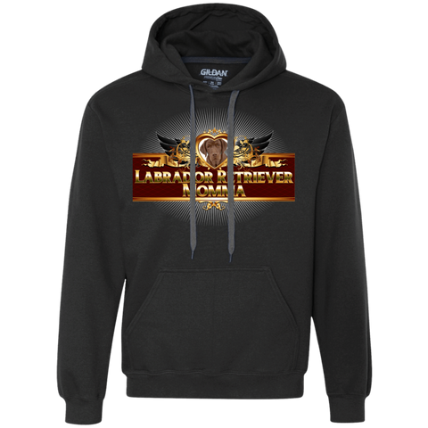 Lab Momma Chocolate Hoodie