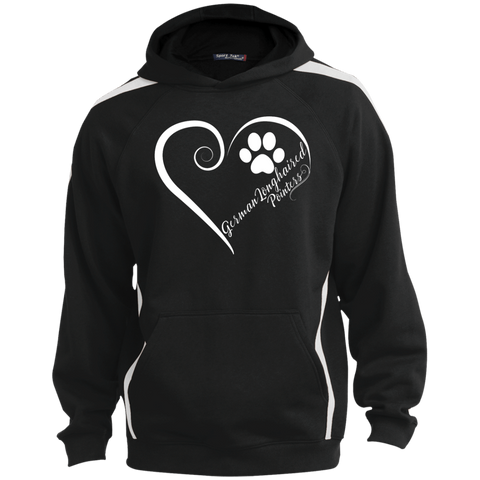 German Longhaired Pointer, Always in my Heart Colorblock Sweatshirt