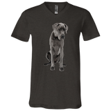 Great Dane Love Me Unisex Jersey SS V-Neck T-Shirt