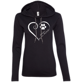 Miniature American Shepherds, Always in my Heart Ladies T-Shirt Hoodie