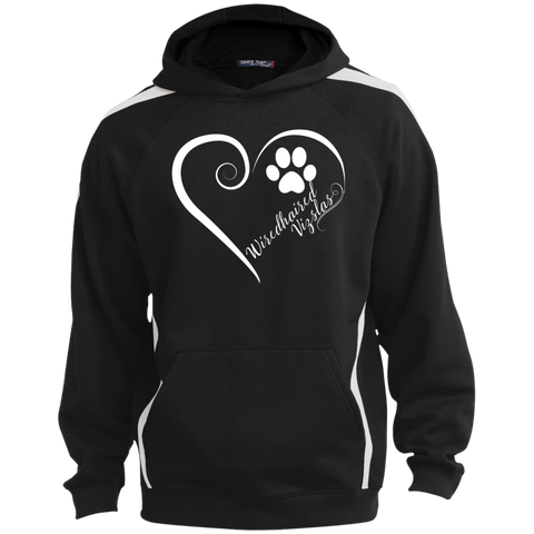 Wiredhaired Vizsla, Always in my Heart Colorblock Sweatshirt