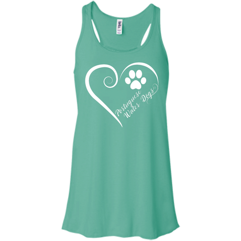 Portuguese Water Dog, Always in my Heart  Flowy Racerback Tank