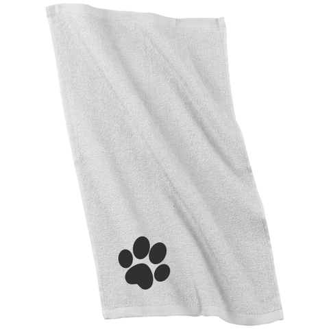 Paw Print Embroidered Rally Towel