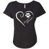 Norwegian Elkhound, Always in my Heart Ladies Triblend Dolman Sleeve