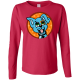 Patch Puppy Sunshine Ladies Long Sleeve Tee