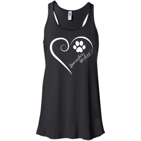Lancashire Heeler, Always in my Heart  Flowy Racerback Tank