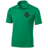 Paw Print Tall Micropique Tag-Free Flat-Knit Collar Polo