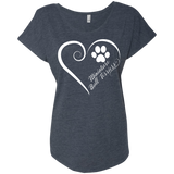 Miniature Bull Terrier, Always in my Heart Ladies Triblend Dolman Sleeve