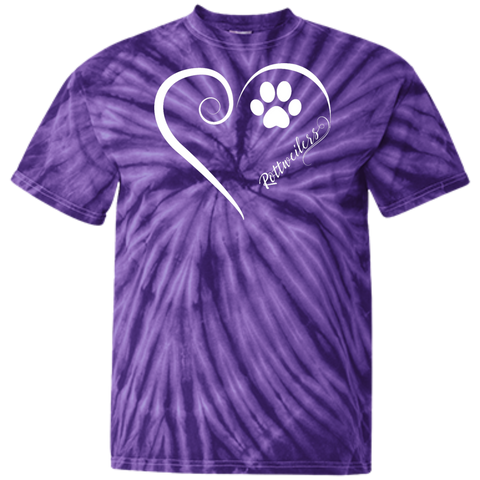 Rottweilers, Always in my Heart Tie Dye Tee