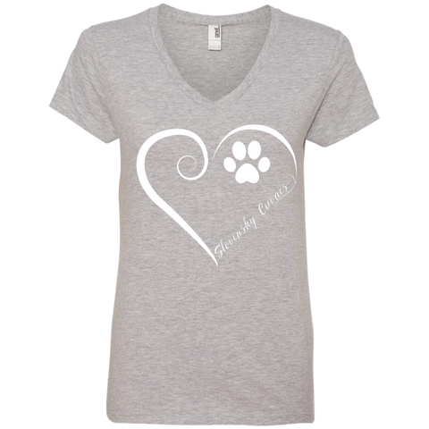 Slovensky Cuvac, Always in my Heart Ladies V Neck Tee
