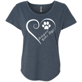 Portuguese Water Dog, Always in my Heart Ladies Triblend Dolman Sleeve
