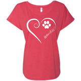 Rottweilers, Always in my Heart Ladies Triblend Dolman Sleeve