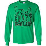 Crazy Dog Lady Black Outline Unisex Gildan LS Ultra Cotton T-Shirt