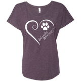 Labrador Retriever, Always in my Heart Ladies Triblend Dolman Sleeve