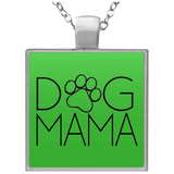 Dog Mama UN4684 Square Necklace