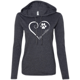 Japanese Chin, Always in my Heart Ladies T-Shirt Hoodie