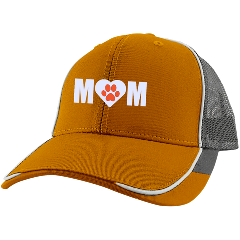 Paw Print Mom Mesh Back Cap