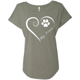 Skye Terrier, Always in my Heart Ladies Triblend Dolman Sleeve