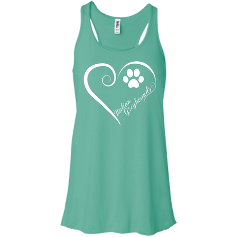 Italian Greyhound, Always in my Heart Flowy Racerback Tank