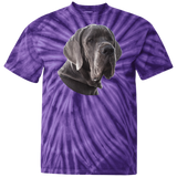 Great Dane Portrait Unisex 100% Cotton Tie Dye T-Shirt