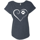 Russell Terrier, Always in my Heart Ladies Triblend Dolman Sleeve