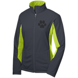 Paw Print Ladies' Colorblock Soft Shell Jacket